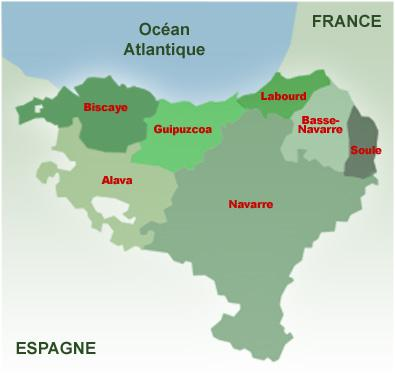 Carte pays basque